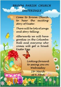 Easteringle service at Broom Church