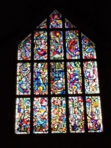 The beautiful Stained Glass Windows of Brrom Churh in Newton Mears, East Renfrewshire