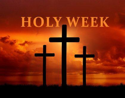 Holy Week Services via Live Stream